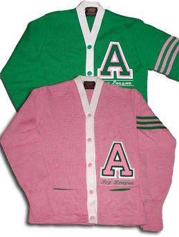 Cardigan Letter Sweaters   AKA   Aka sorority, Alpha kappa alpha