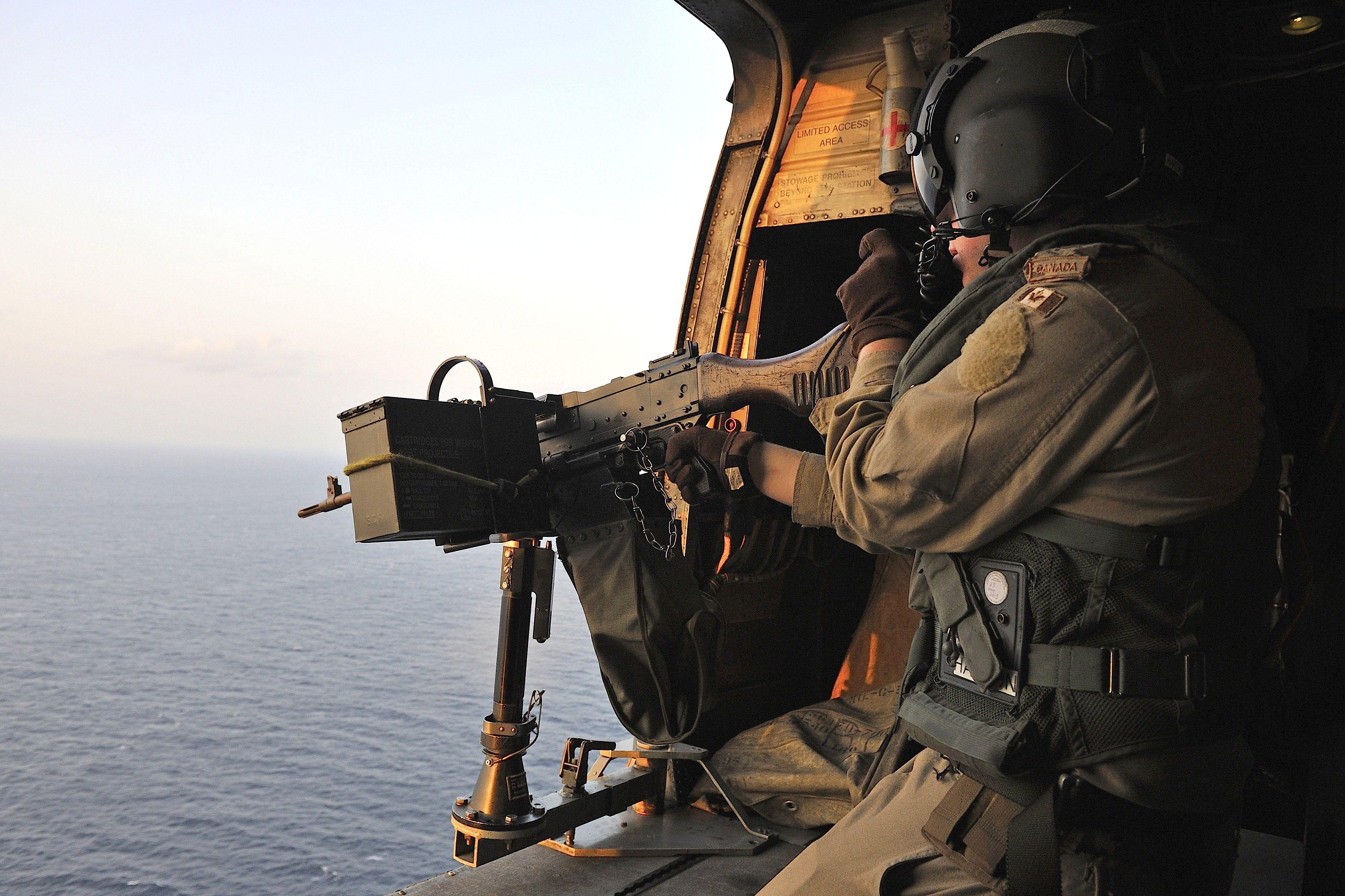 Corporal Andrew Harton fires a C6 general purpose machine