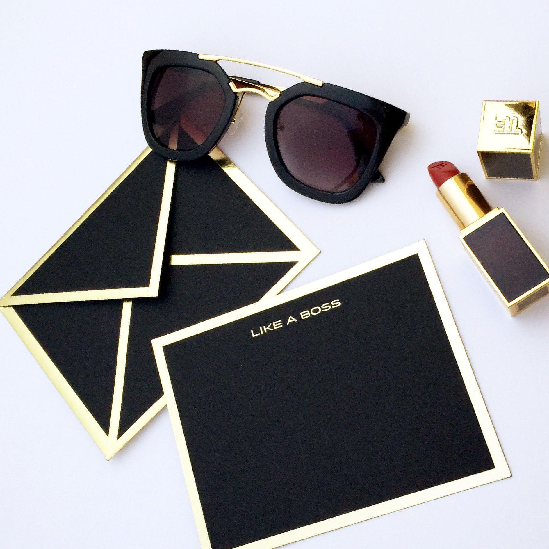 Like a boss black card envelope black card custom envelopes and like a boss black card envelope reheart Images