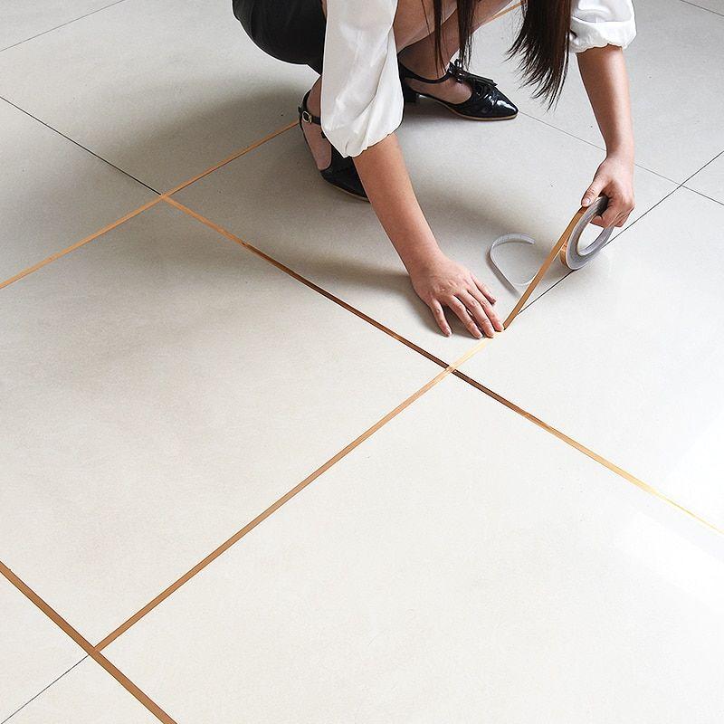 Vanzlife Bedroom Waterproof And Mildew Seam Decorative Stickers Gap Wedding Decoration Room Floor Wall Stickers In 2020 Adhesive Floor Tiles Sticker Decor Pvc Flooring