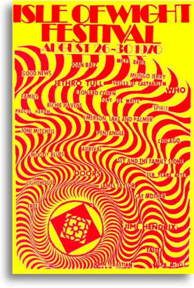 Isle Of Wight Festival 1970 Uk Isle Of Wight Festival Music Festival Poster Vintage Concert Posters