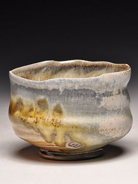 Dick Lehman Pottery | Chawan Tea Bowl | Stamped/Signed | Wood Fired | This tea bowl measures 3.5 inches tall. It's one of 150 pieces that Dick fired in the recent Notre Dame anagama... a 100+ hour firing with mixed hardwoods. He said it was a real dandy firing and he was quite pleased with this nice selection.