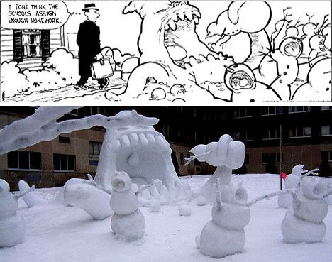 Real life Calvin & Hobbes