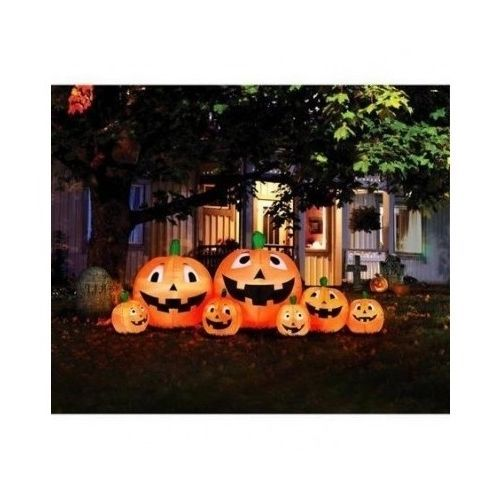Inflatable Pumpkin Patch Lighted Halloween Decoration Light Up Yard - outdoor inflatable halloween decorations