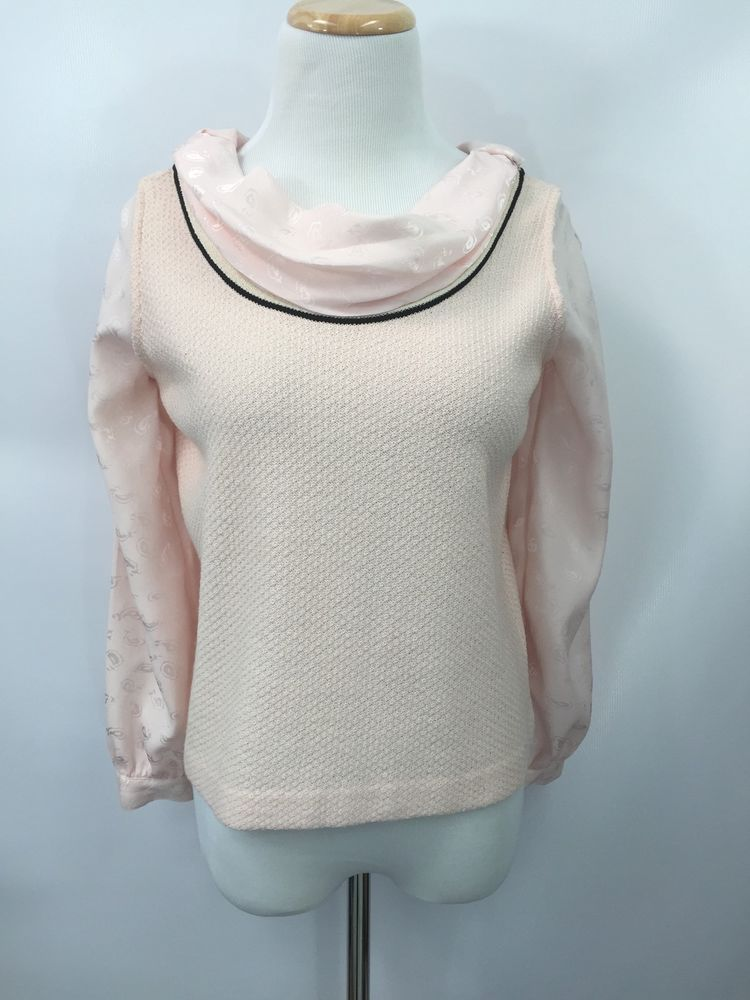 986e8fbb567ba St. John Collection Marie Gray Women s Sweater Blouse Layer Pink Size P   StJohn