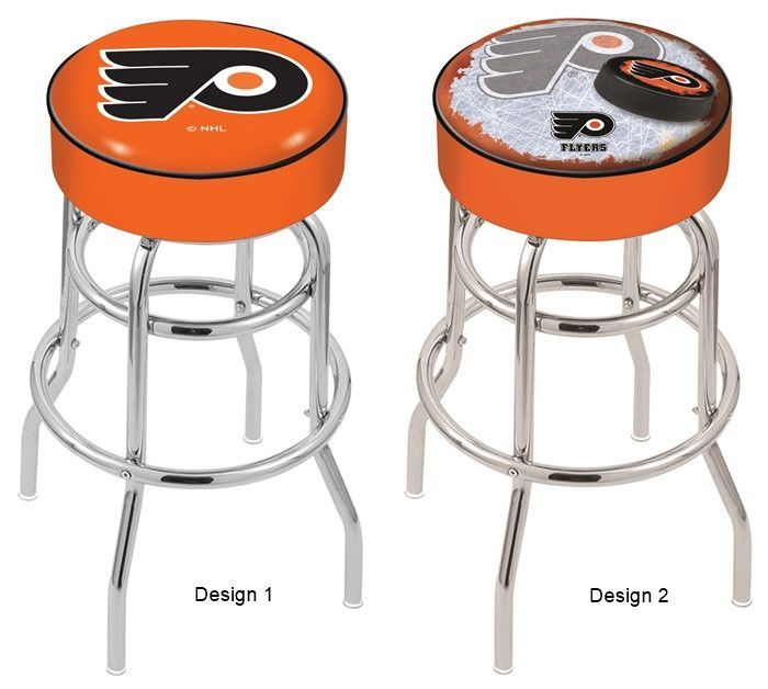 Philadelphia Flyers Orange Nhl D1 Retro Chrome Bar Stool