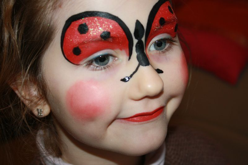 Maquillage enfant coccinelle pinteres - Maquillage simple enfant ...