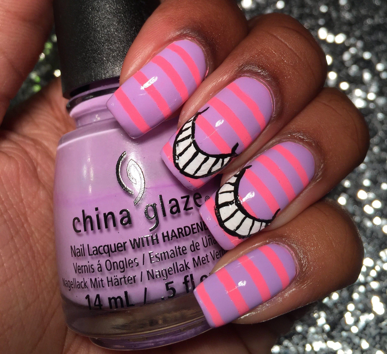 Cheshire Cat Disney Nails | Cheshire Cat Nails - YouTube | cheshire ...