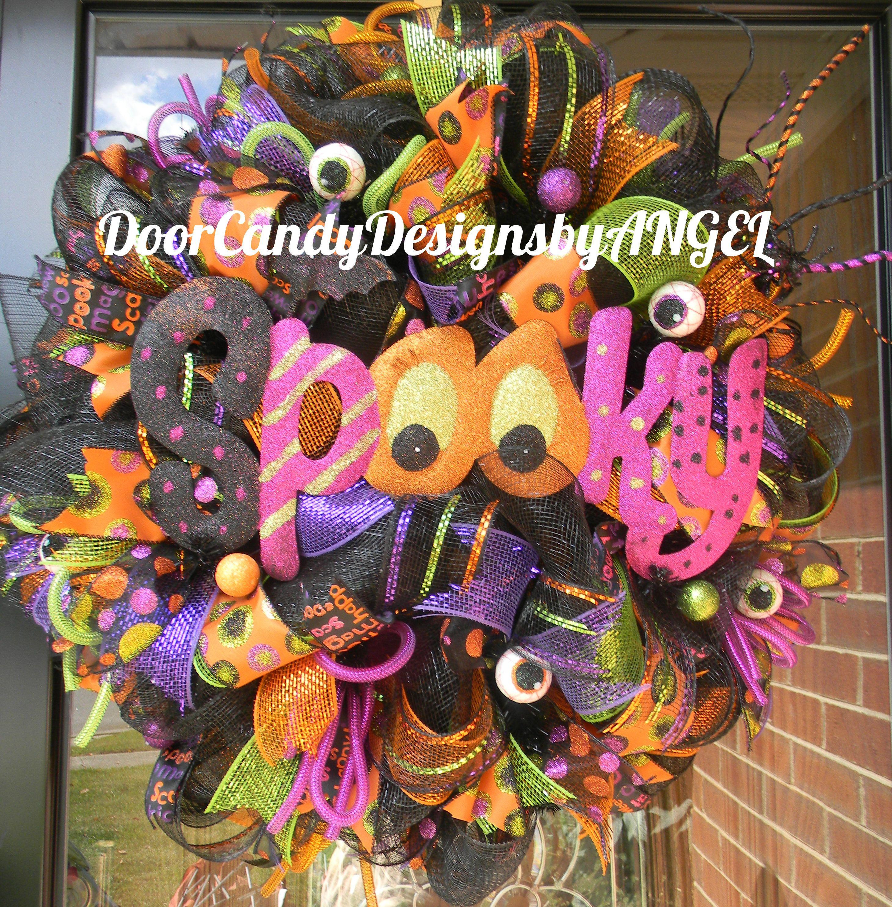 """""""Spooky"""" Halloween Wreath Design available on"""