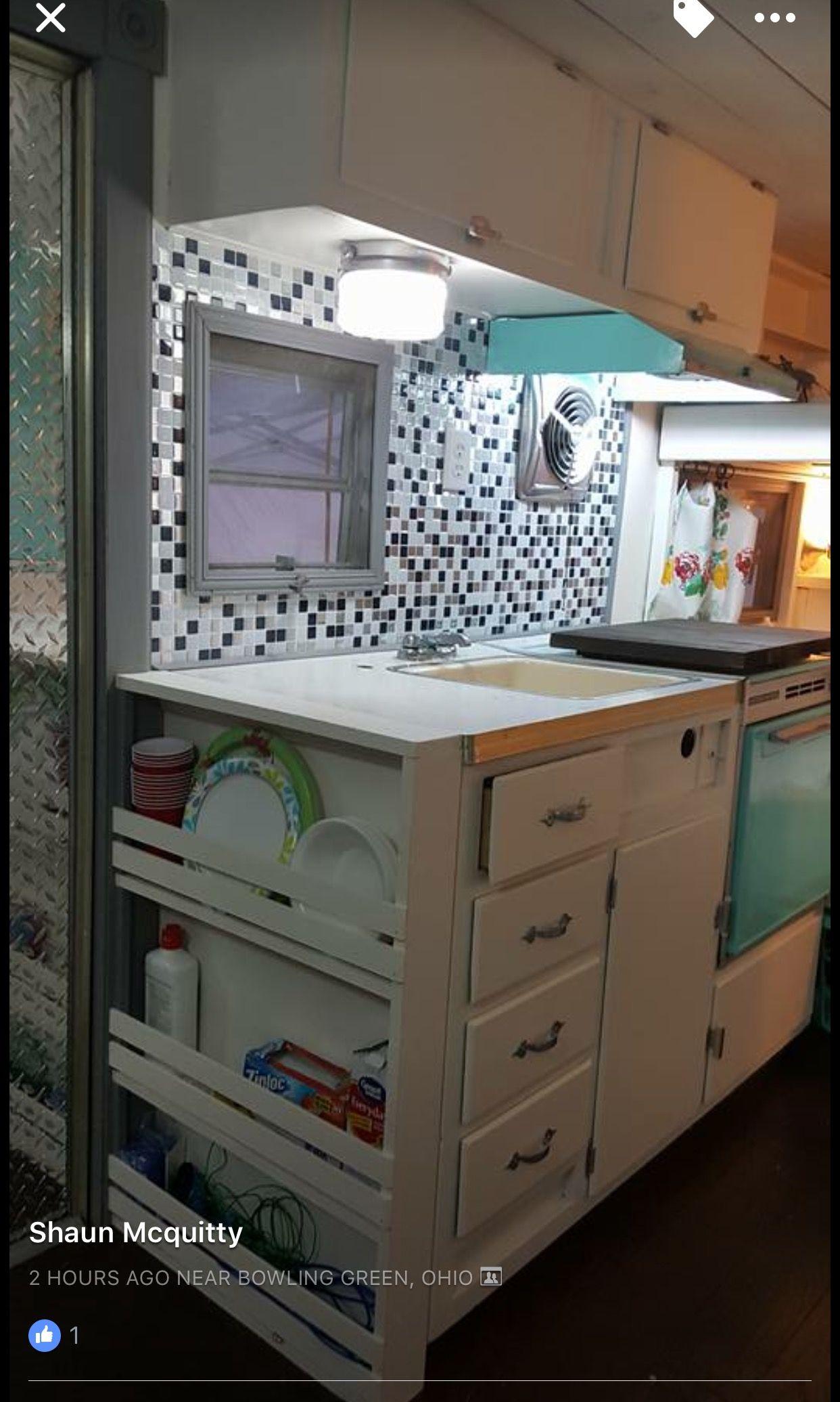 Pin By Regina Kinuthia On Studio Apartment Furniture Remodeled Campers Camper Storage Camper Interior