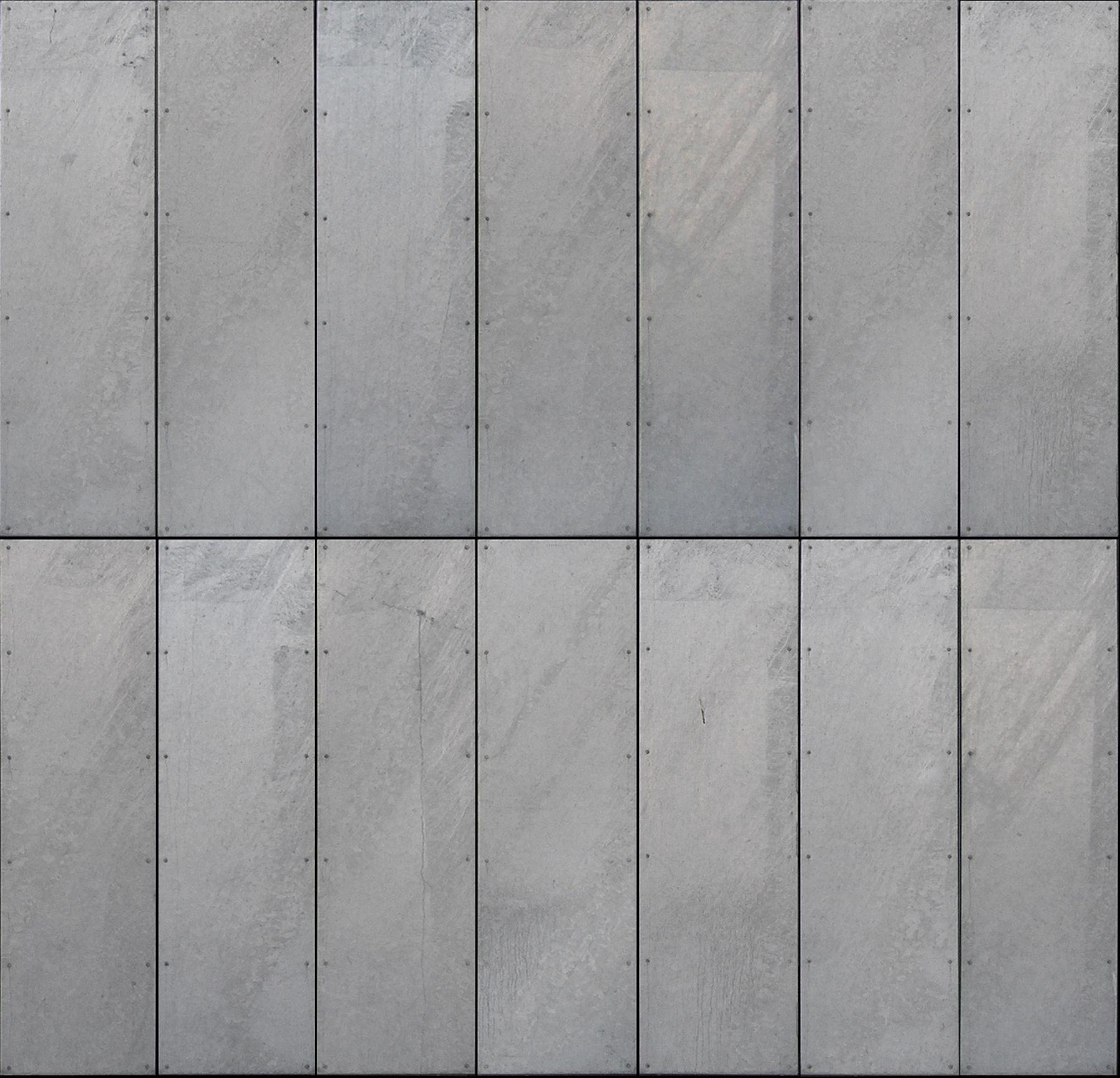 Galvanized Steel Panels Seamless Texture Materials Textures In