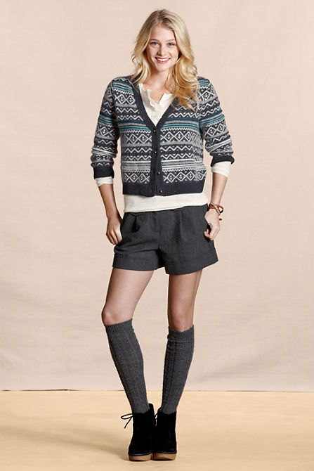 Women's Angora Fair Isle Cardigan from Lands' End | Sweater ...