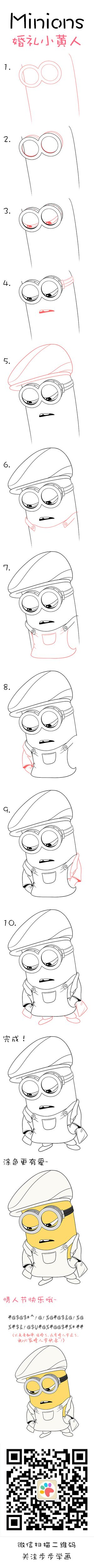 Learn How To Draw Wedding Minion And Happy Valentine S Day