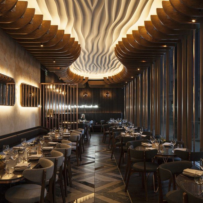 This restaurant space by Paul Nulty takes our breath away. #Hazrestaurant #hospitalitydesign