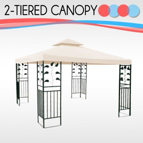 10 X Replacement Gazebo Canopy Beige Top Cover Patio Outdoor Shade 2