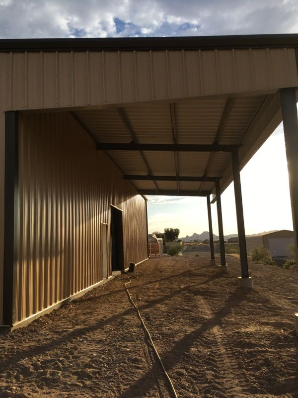 Metal Shop Building With A Lean To Add On Metal Buildings