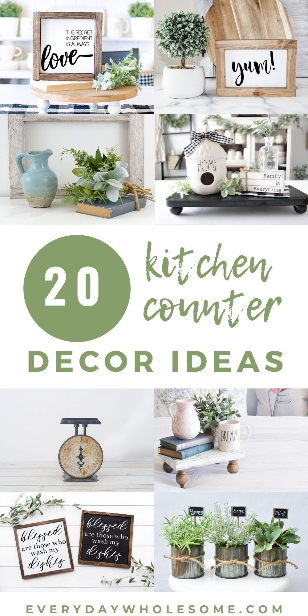 20 Kitchen Countertop Decor Ideas Kitchen Countertop Decor Kitchen Tray Decor Countertop Decor