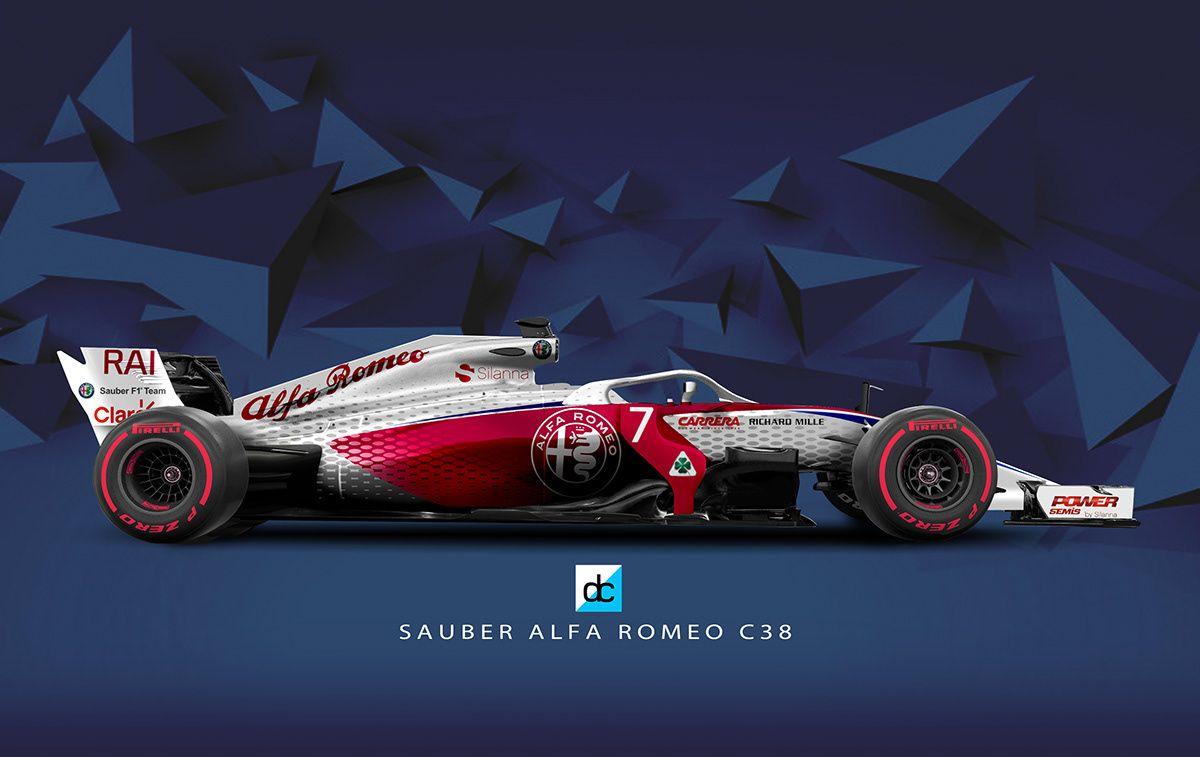 F1 2019 Season Concept Liveries on Behance Alfa romeo