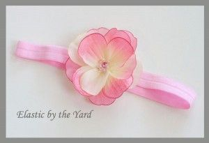 How To Make An Elastic Headband Perfect For Babies With No Hair On Top I Can Use The Hair Bows Homemade Headbands Elastic Headbands Headbands