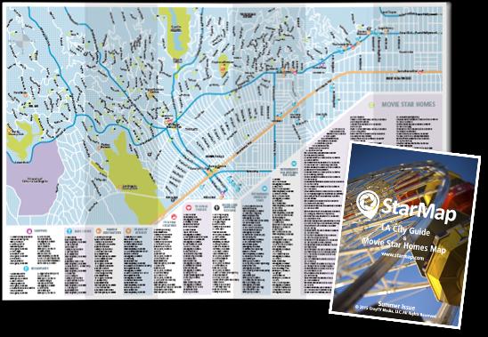 Starmap City Guide Movie Star Homes