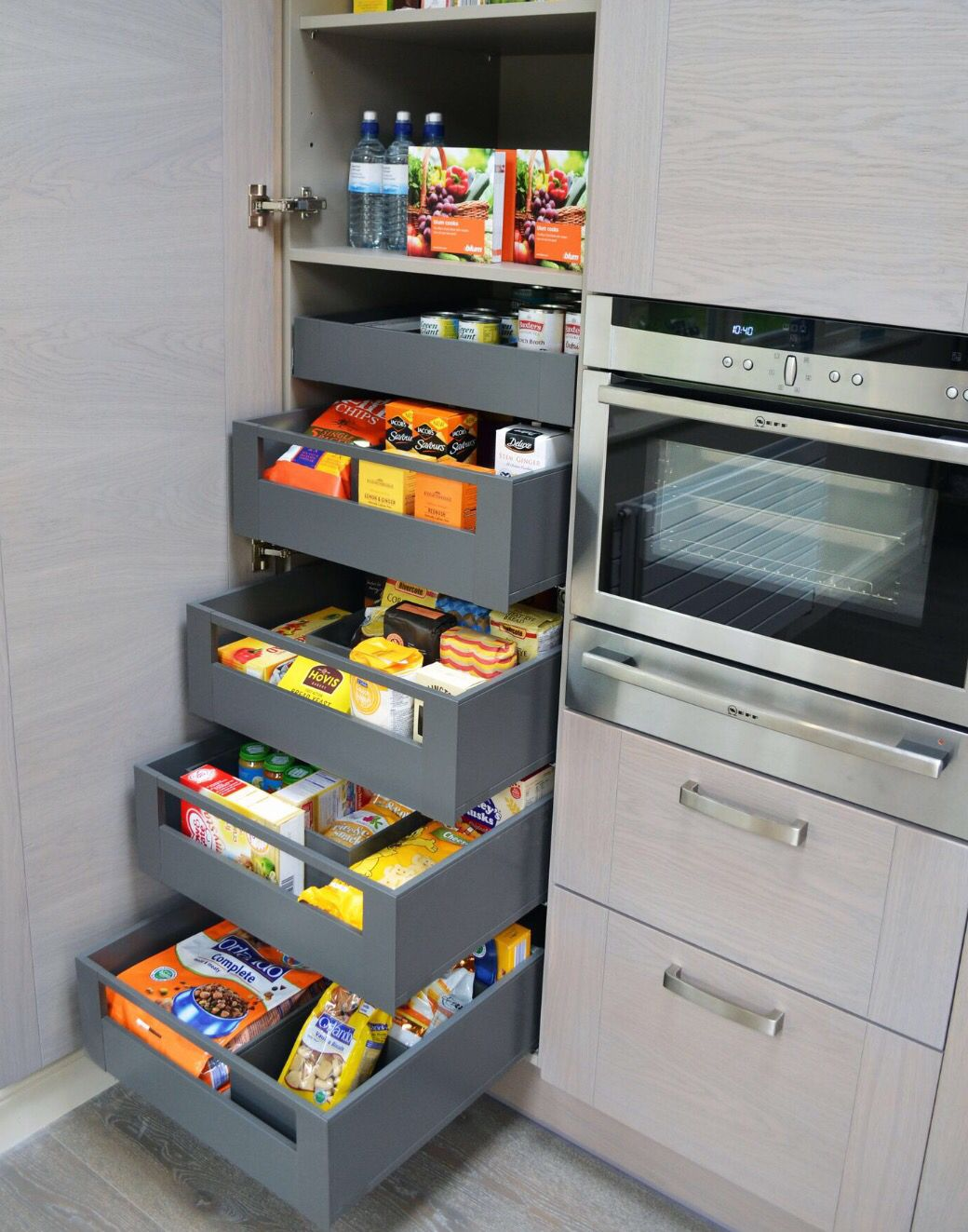 1000 images about cuisine organis e on pinterest kitchen cabinet organization cuisine and pantry - Kitchen storage space ...