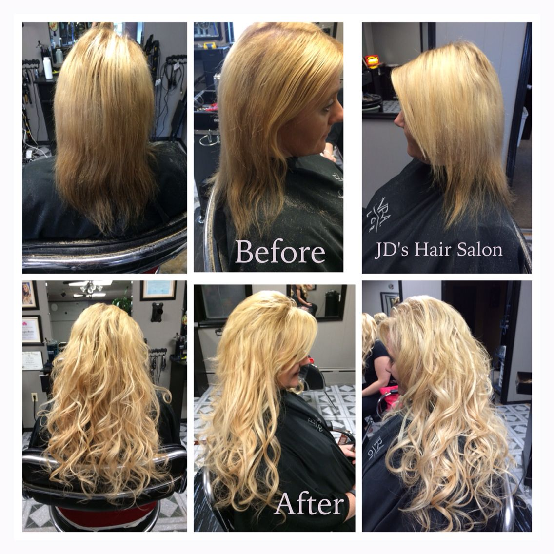Before And After Pictures Of Hair Extensions 18 Of Warm Fusion Blonde Human Hair Extensions Www Jd Permed Hairstyles Hair Extensions 20 Inch Hair Extensions