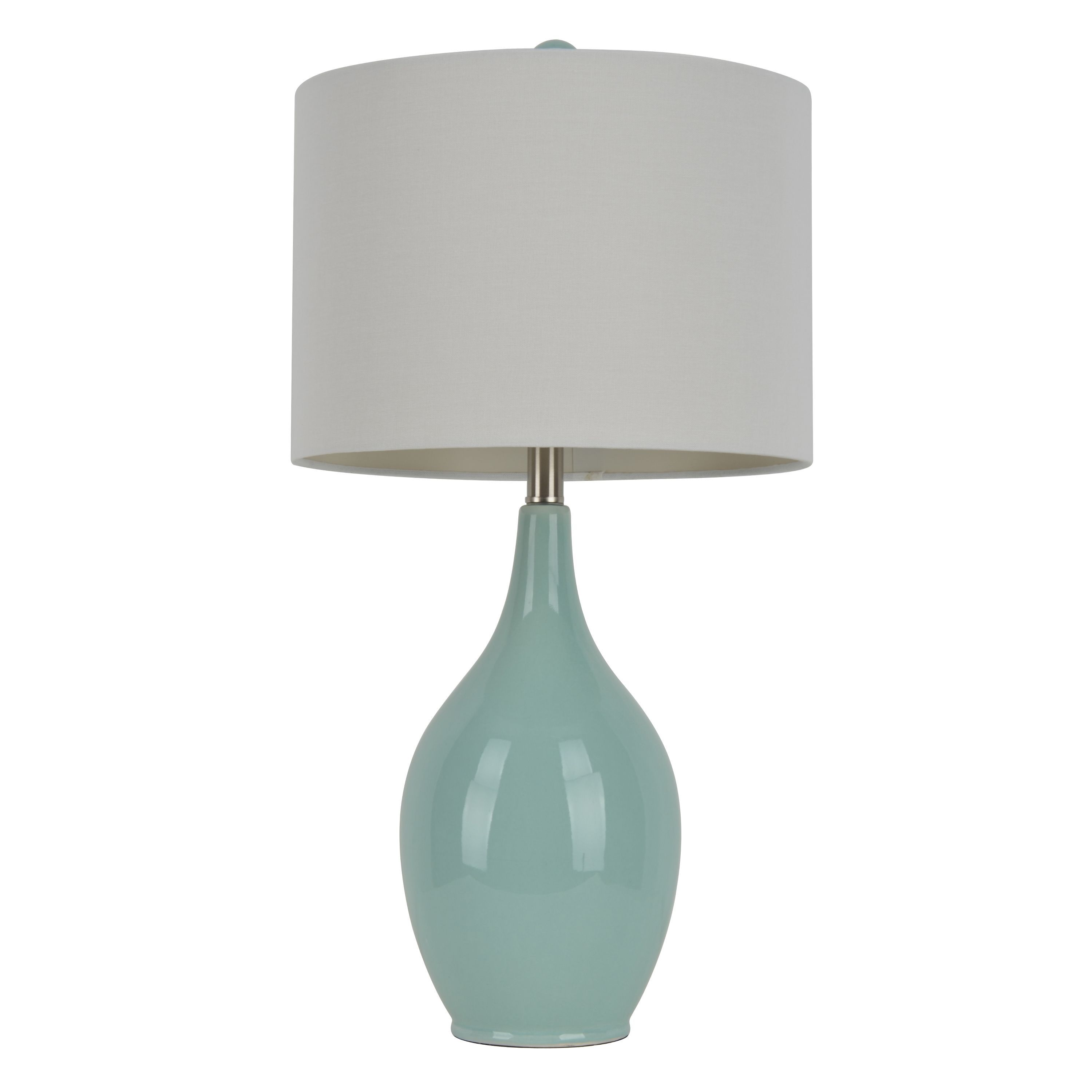 27 inch spa blue ceramic table lamp by decor therapy spa linens 27 inch spa blue ceramic table lamp by decor therapy aloadofball Choice Image