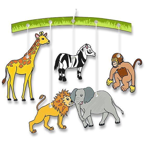 Mobiles animaux colorier t te modeler - Animal a colorier ...