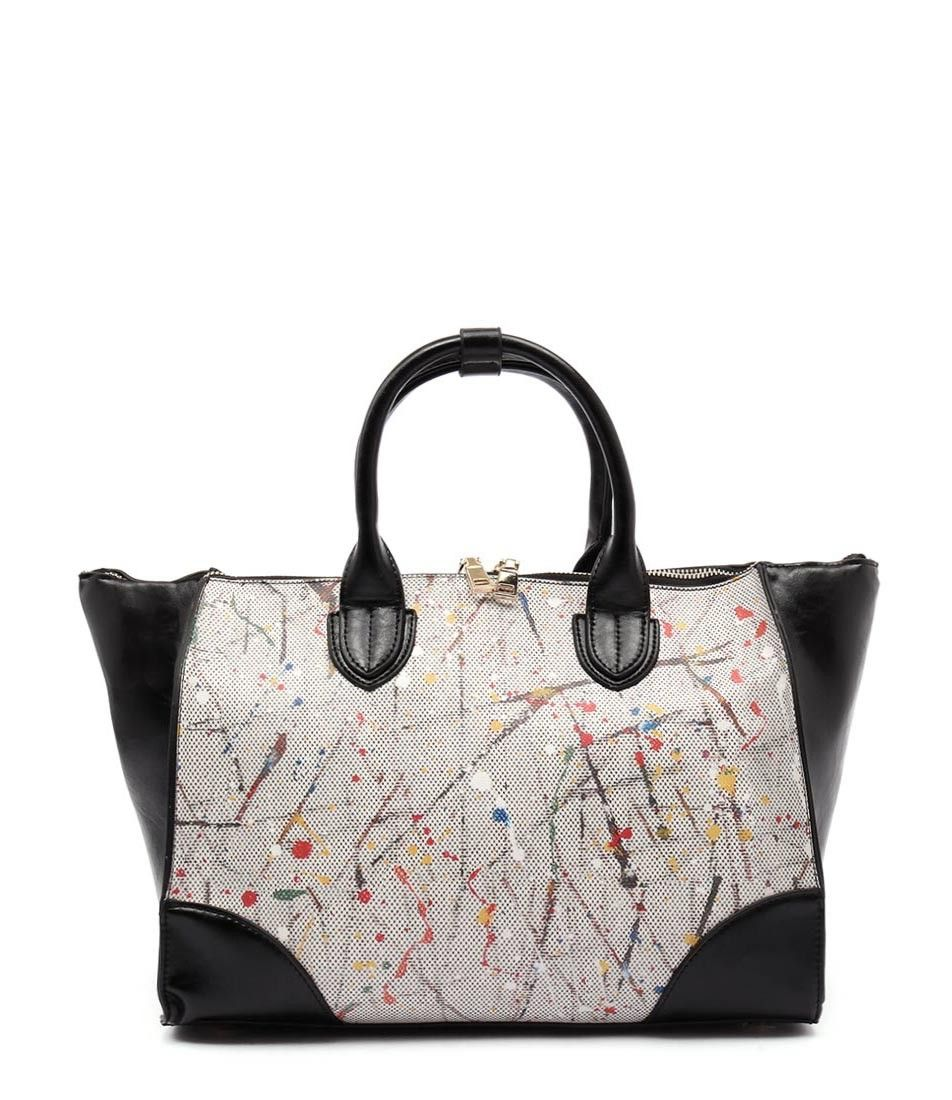 This Unique Double Handled Handbag Will Be A Decorative Feature To Any Look Season