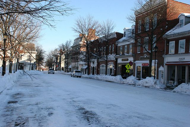 Downtown Easton Md After The Blizzard Of 2010 Eastern Shore Maryland Eastern Shore Places Of Interest