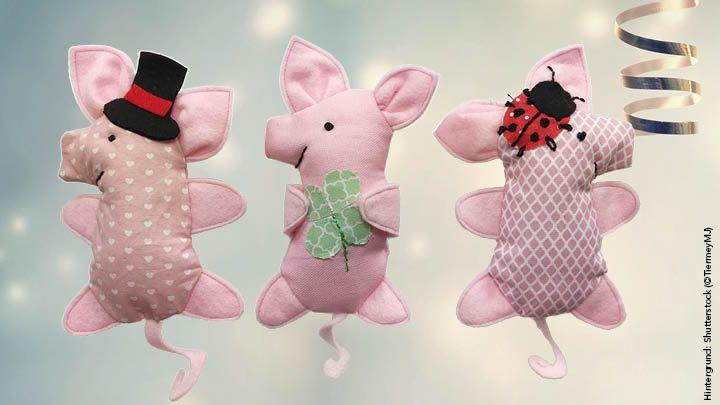 Gratisanleitung zum Nähen: Silvesterschweinchen | Simply Kreativ