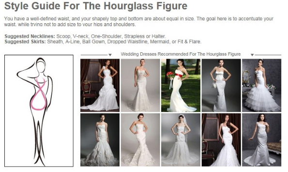 Lucky enough to have an hourglass figure?  These wedding dress styles are the most suitable for your shape.  #wedding #dresses