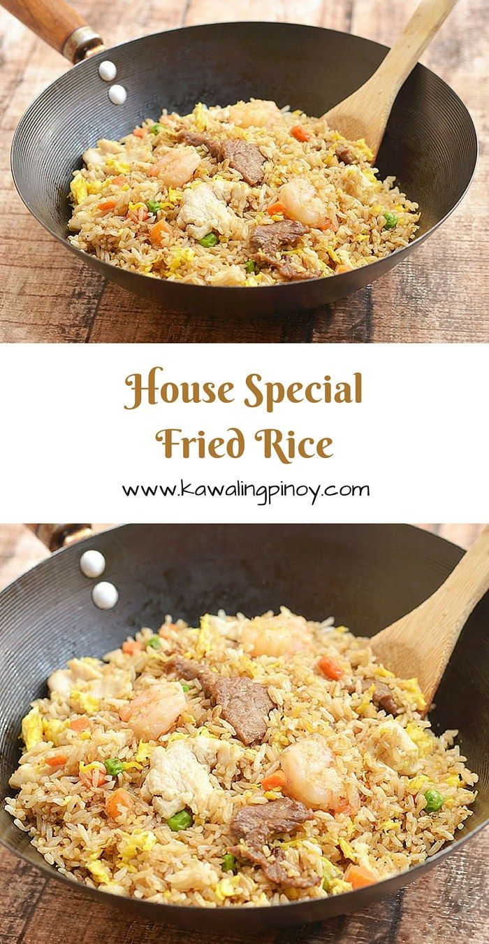 House Special Fried Rice Recipe Food Rice Recipes Beef Fried Rice Rice Dishes