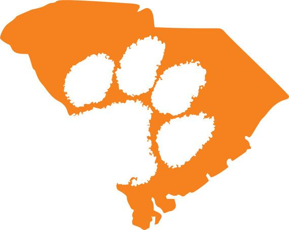 Custom Clemson SC Sticker by outline  Tigers