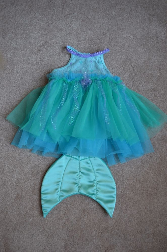 Disney Baby 12-18 Month Little Mermaid Onesie Costume with Tulle - 18 month halloween costume ideas