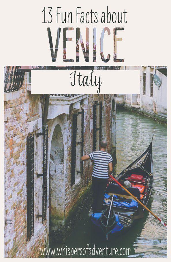 Venice, Italy - Fun Facts! • in 2020 | Fun facts, Venice ...
