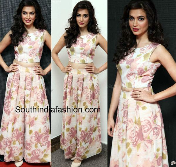 19b9aa91c Kriti Kharbandha in Floral Palazzos and Crop Top | Things to Wear ...