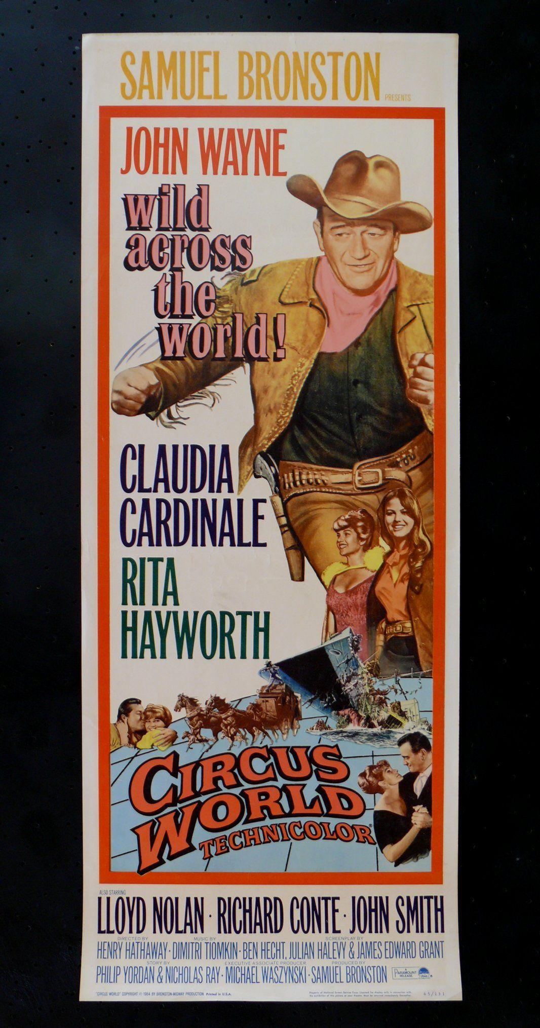 Circus world John Wayne Claudia Cardinale movie poster print