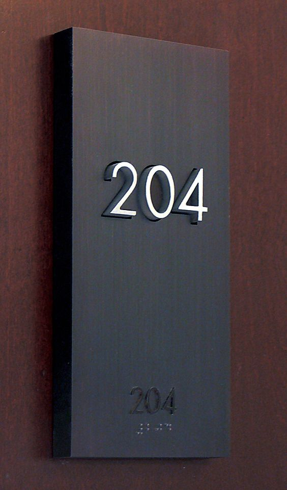 The Montana Residence, Signage hotel room number by Gatemark ...