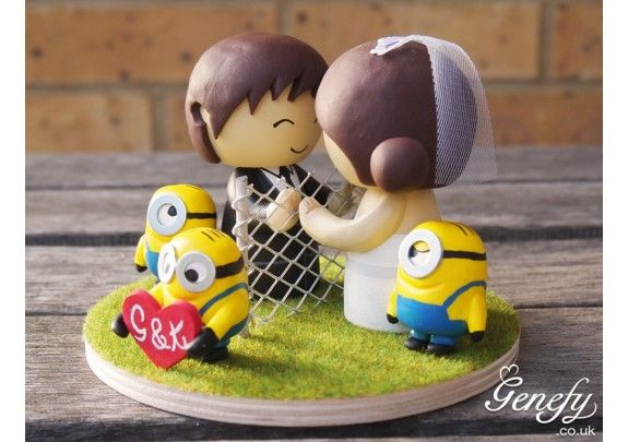 Minion wedding cake topper   Bride and Groom   TheWeddingMile com     Minion wedding cake topper   Bride and Groom   TheWeddingMile com