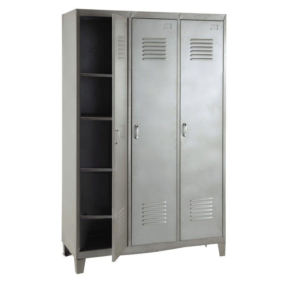 Dressing vestiaire en métal gris | kids rooms | Bedroom, Lockers