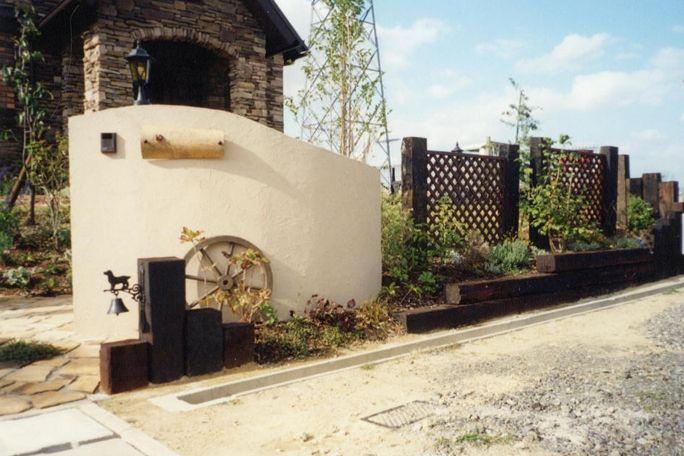 塀門柱 門柱 門周り 庭 庭 リフォーム ガーデンプラン