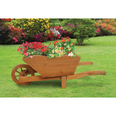 Groundlevel Wooden Wheelbarrow Planter Groundlevel Planter Wheelbarrow Wooden In 2020 Wheelbarrow Planter Garden Planters Garden Planters Uk