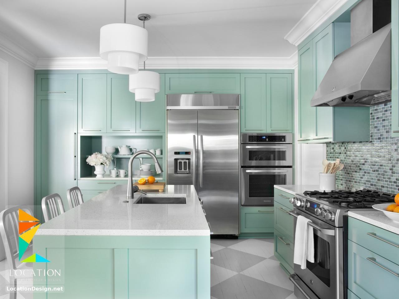 أحدث كتالوج صور تصميمات مطابخ مودرن من افضل الوان المطابخ 2019 2020 Kitchen Renovation Trends Modern Kitchen Design Kitchen Cabinet Colors