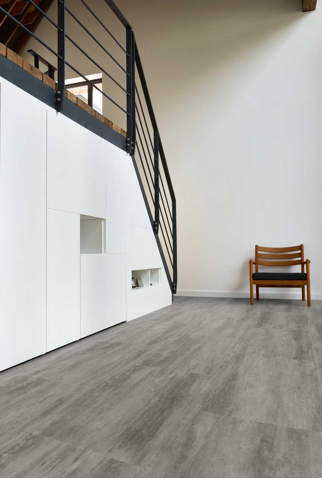 dalle vinyle clipsable hybride effet b ton coretec plus 50lvt1803 b ton patin bricoflor. Black Bedroom Furniture Sets. Home Design Ideas