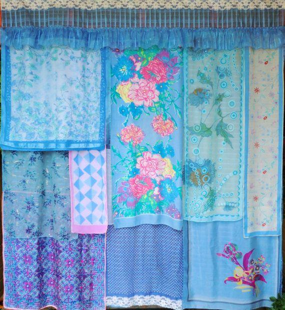 Babylon Sisters Blue Bohemian Curtains