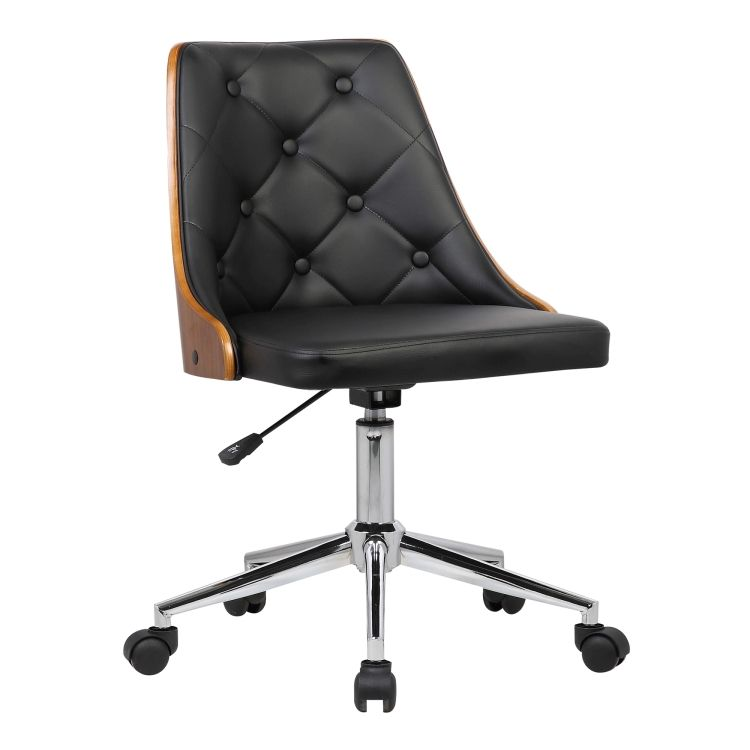 black tufted desk chair