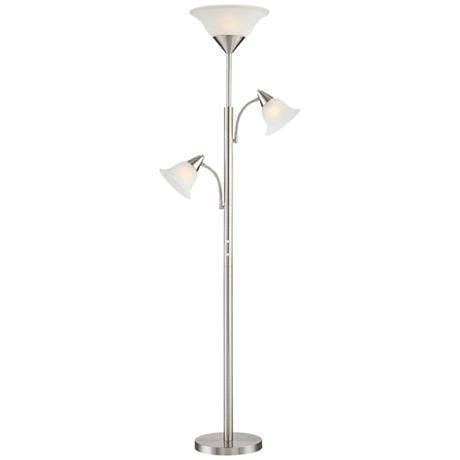 Kohls Floor Lamps Fascinating Jordan Brushed Steel Tree Torchiere 3 Light Floor Lamp  Style Decorating Design