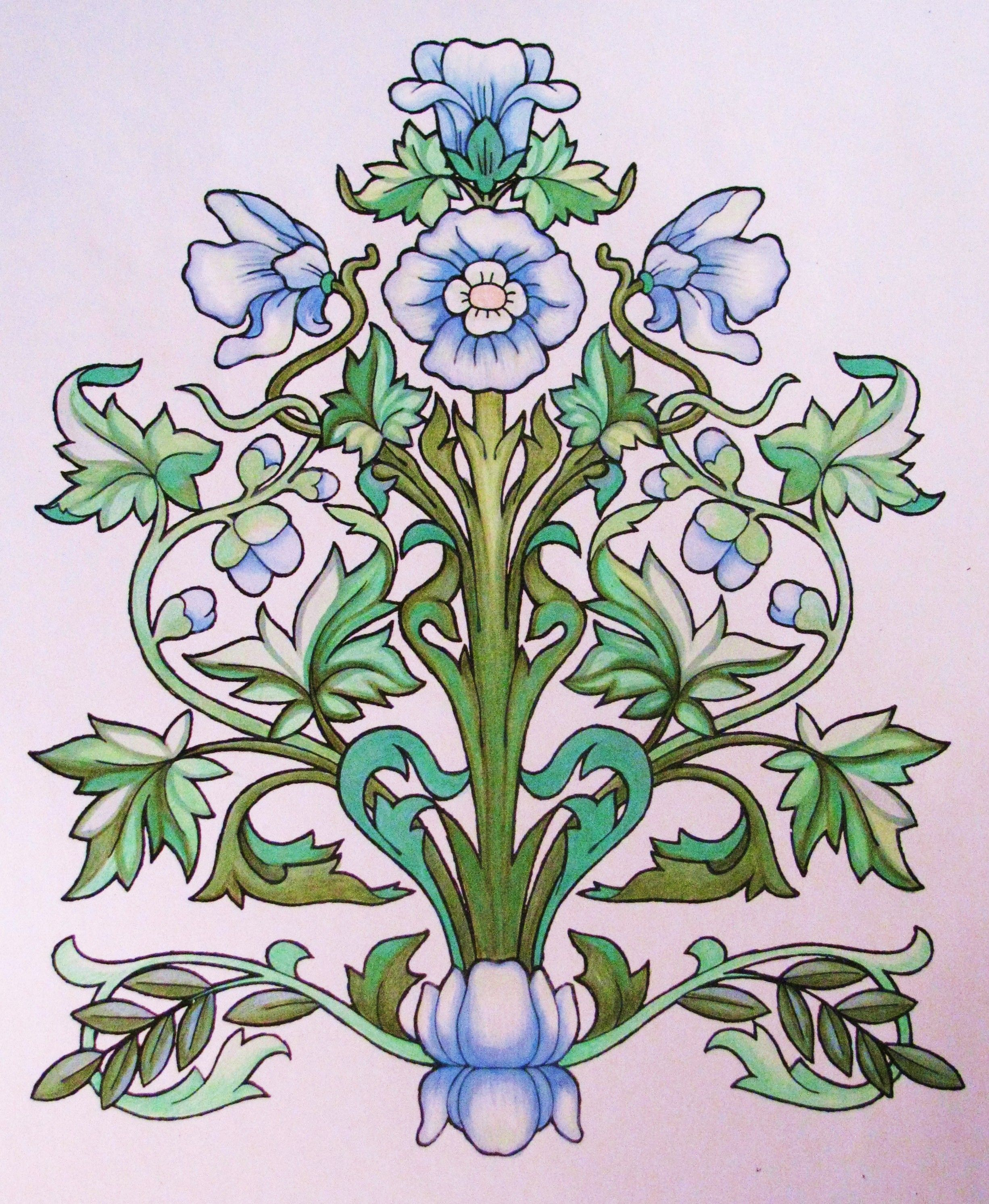 From The Art Nouveau Designs Dover Books Ilustrated By Ed Sibbet Jr