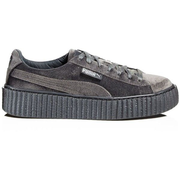 FENTY Puma x Rihanna Women's Velvet Lace up Creeper Sneakers
